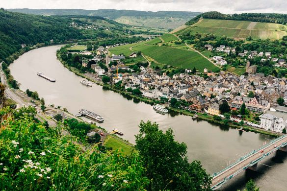 View of Moselle River Valley