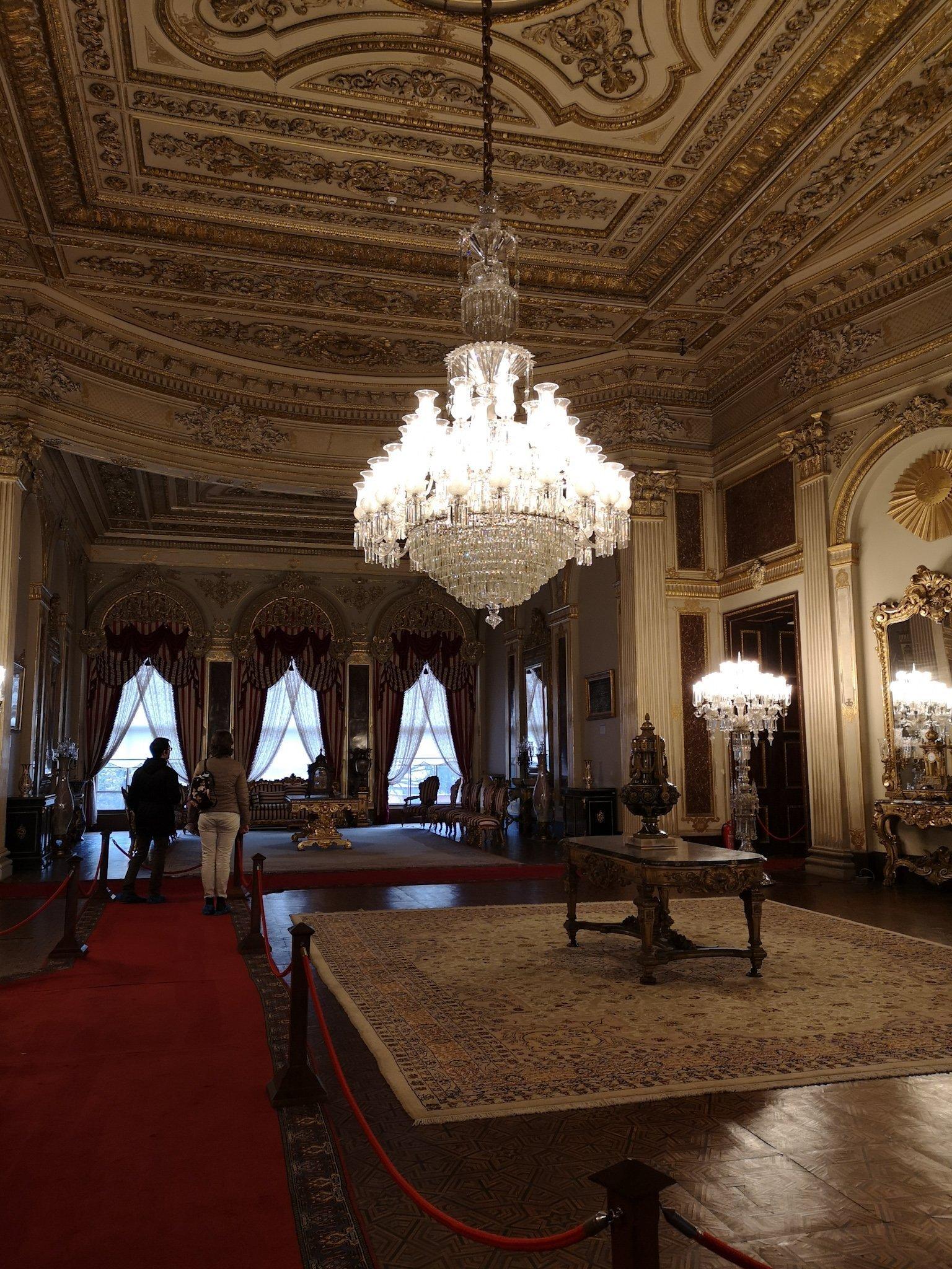 Inside Dolmabahçe Palace
