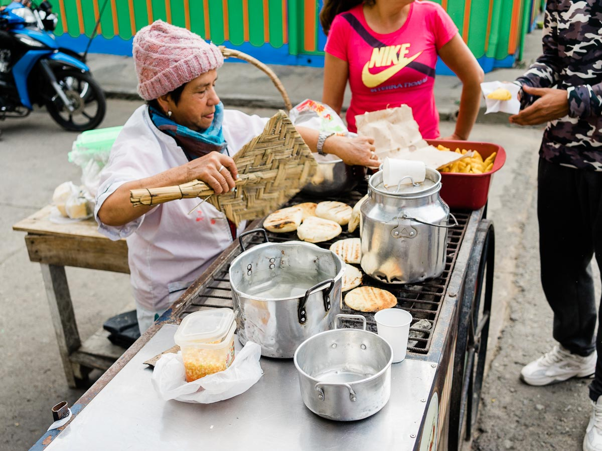 Arepas in Salento, Colombia