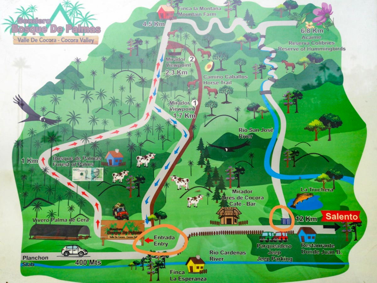 Cocora Valley Trail Map