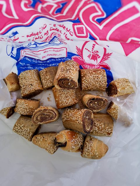 Date rollup cookies in Luxor Egypt